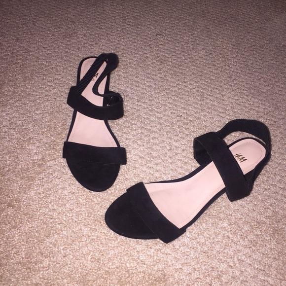 H\u0026M Shoes | Hm Black Block Heels | Poshmark